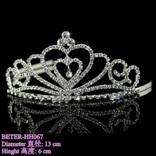 Hochzeit - Beter Gifts® Wedding bride Princess BETER-HH050 Hair Girl Tiara Crown Birthday