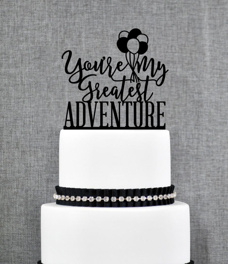 Mariage - Up Cake Topper, Greatest Adventure, Up Themed Wedding, Up Movie, Balloon Cake Topper, Wedding Cake Topper, Cake Topper (T365)