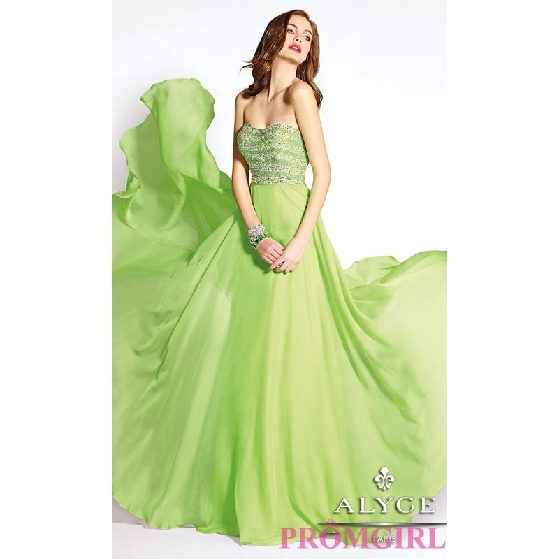 Mariage - Long Strapless Open Back Formal Gown by Alyce - Brand Prom Dresses