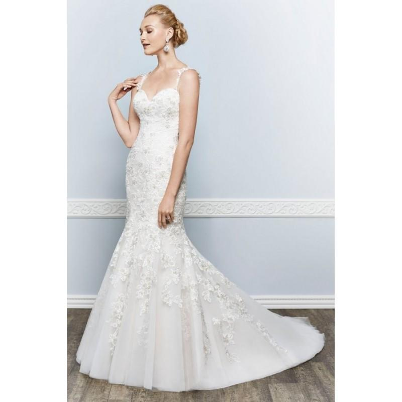 Mariage - Style 1636 by Kenneth Winston - Lace Sweetheart Sleeveless Floor length Mermaid Semi-Cathedral Dress - 2017 Unique Wedding Shop