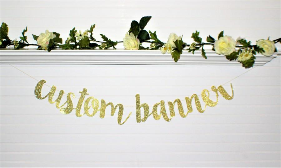 Wedding - BRIDAL SHOWER BANNER - Custom Banner - Wedding Decoration - Birthday - Bachelorette Party Banner - Engagement Party Banner - Wedding Love-G5