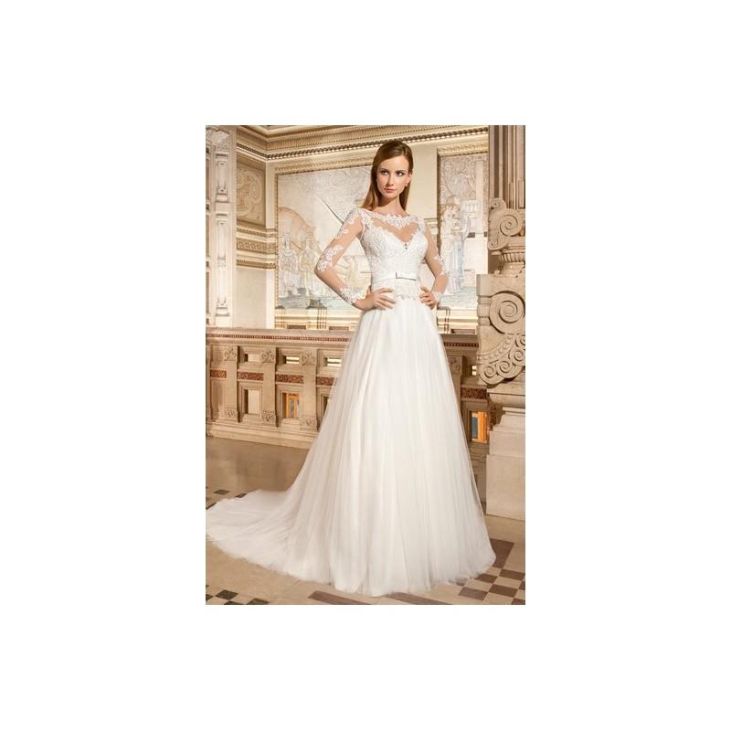 Boda - Demetrios Spring 2015 GR269 - Ivory High-Neck Full Length Spring 2015 Demetrios A-Line - Nonmiss One Wedding Store