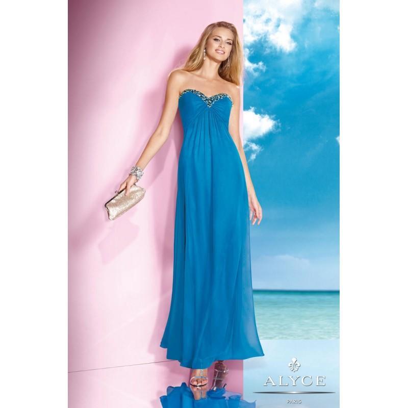 Hochzeit - Deep Water alyce B'Dazzle by Alyce Paris 35592 B'Dazzle by Alyce Paris - Top Design Dress Online Shop