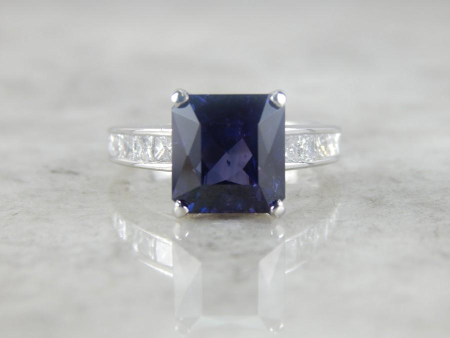 Свадьба - Spectacular, Our Finest Indigo Sapphire from Sri Lanka, Set in White Gold 31FY96-P