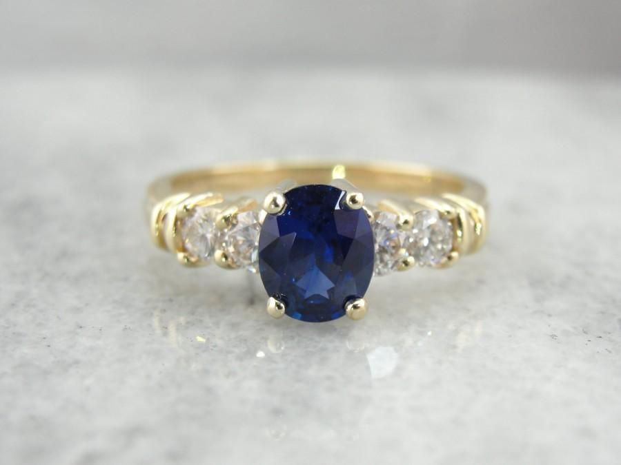 Mariage - Contemporary Sapphire Engagement Ring FFW21J-R