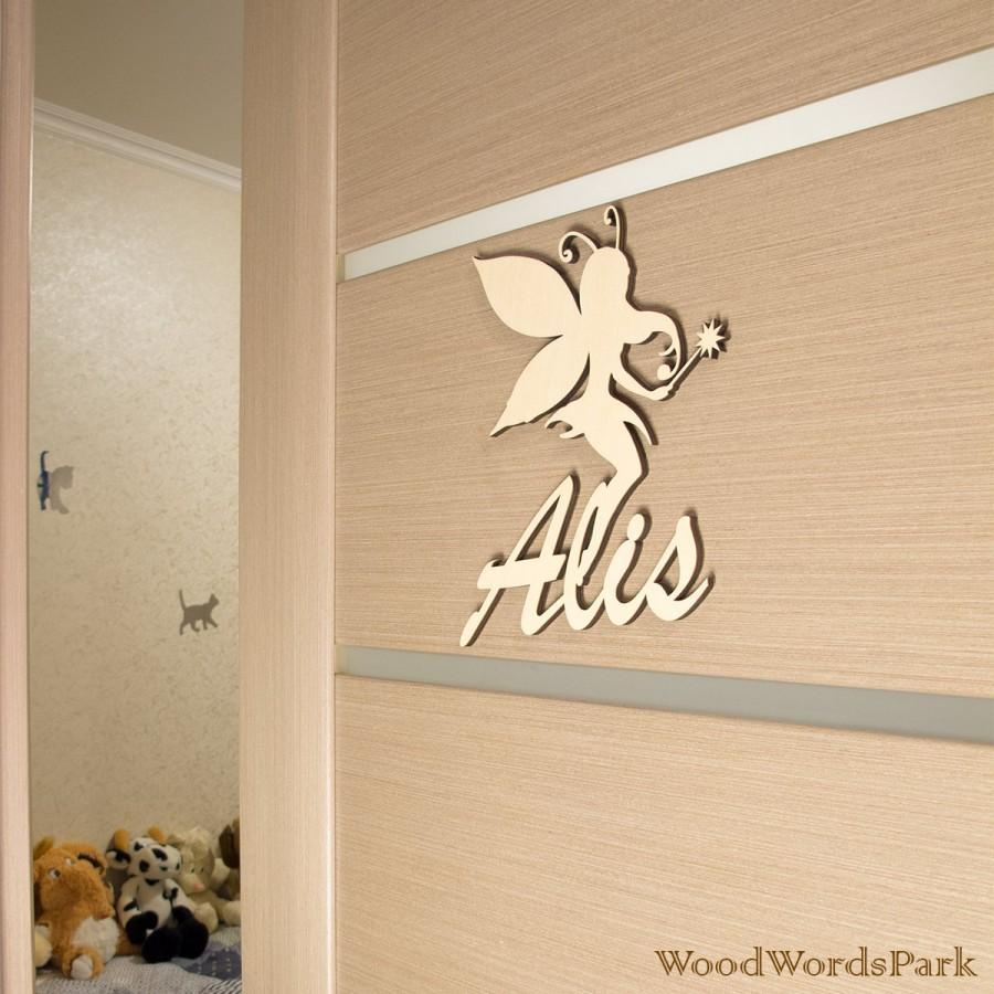 Wood Name Wall Decor : Nursery wall letters unfinished wood name sign for