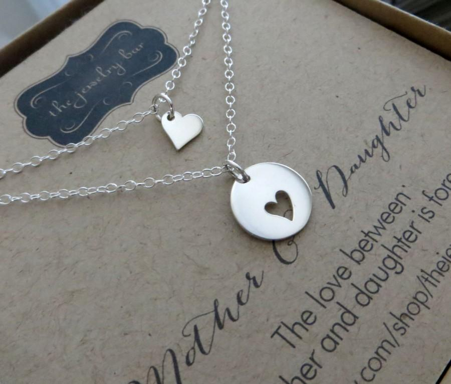 Mariage - Mother of the bride gift, heart necklace, mother of the bride jewelry, piece of heart, keepsake, thank you