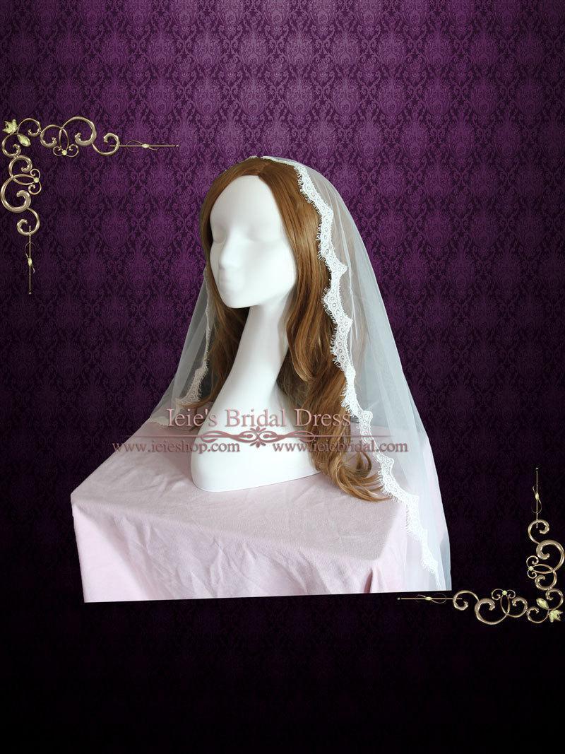 Hochzeit - Drop Veil Single Tier