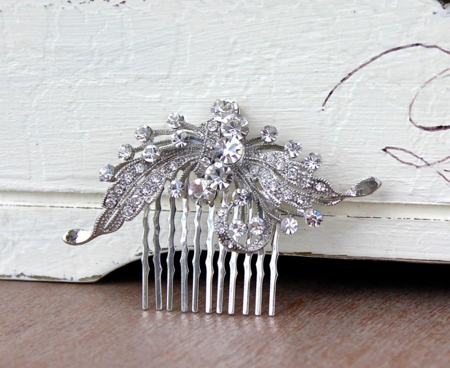 Hochzeit - Crystal Hair Comb, Wedding Hair Comb, Crystal Bridal Hair Piece, Bridal Hair Clip, ROSE