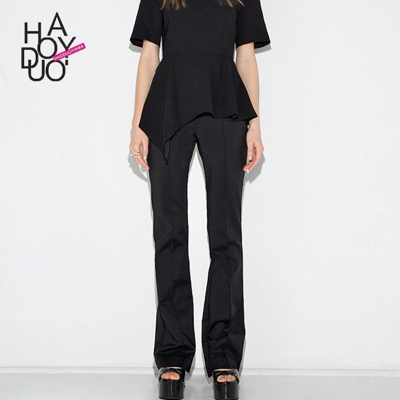 Hochzeit - Ladies fall 2017 new slim micro-Raman professional women in sleek, minimalist style casual pants - Bonny YZOZO Boutique Store