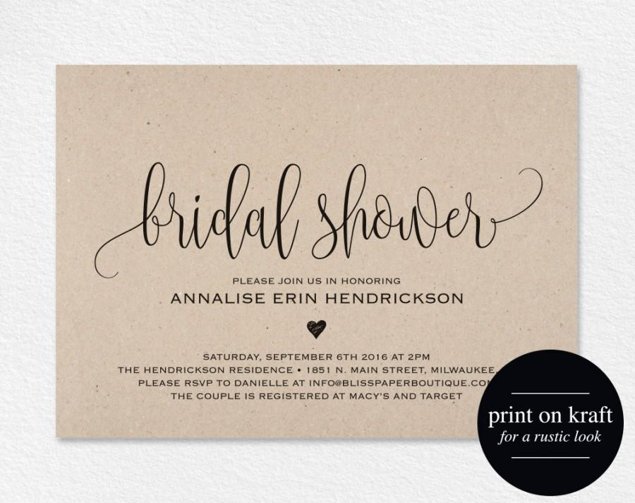 Bridal Shower Invitation Bridal Shower Wedding Printable Wedding