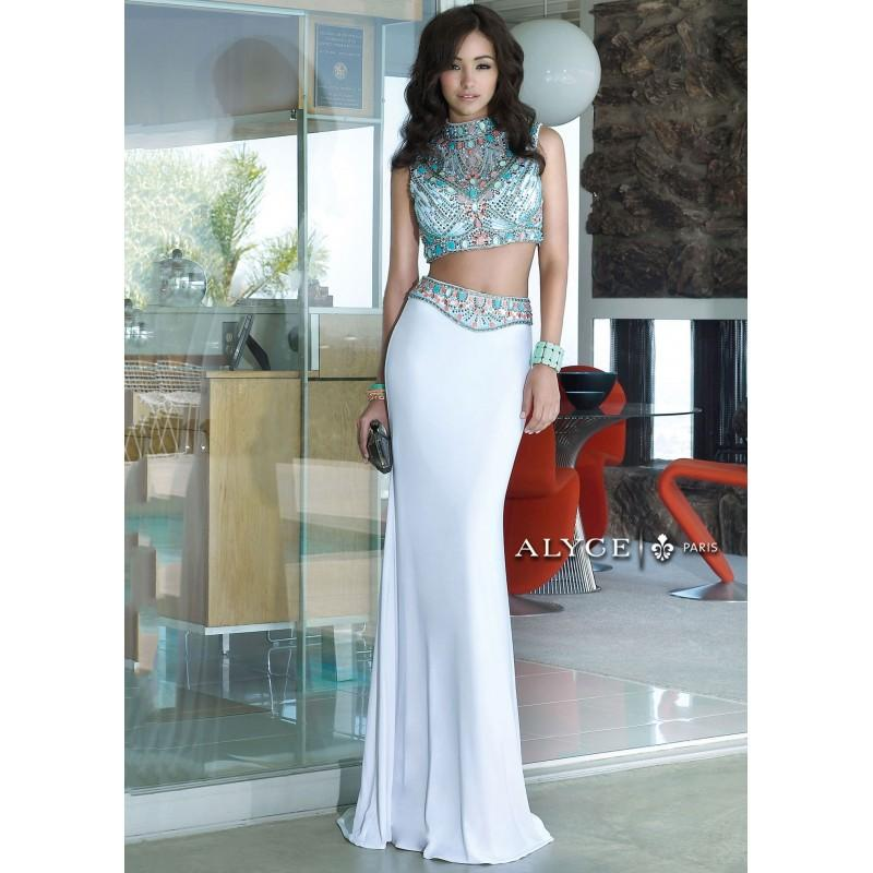 Wedding - Alyce 6372 Jeweled Stones Two Piece Dress - 2017 Spring Trends Dresses