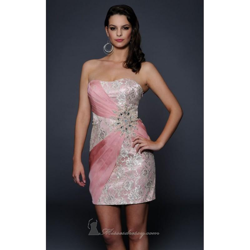 Blush Strapless Short Dress By Lara Designs Color Your Cly Wardrobe