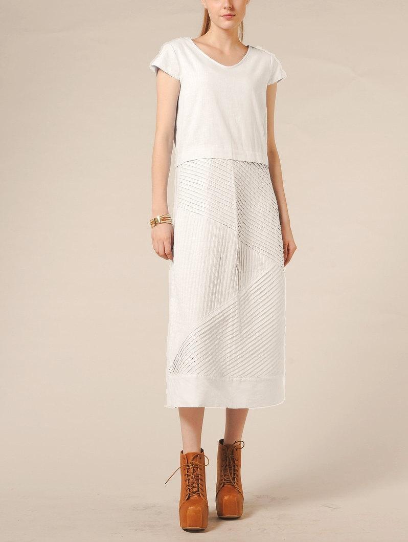White Dress Linen