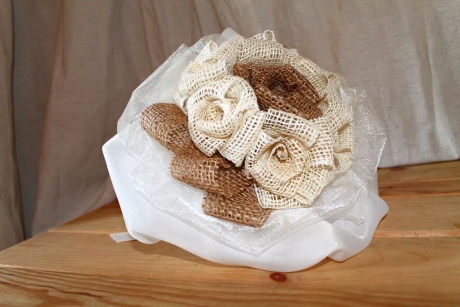 Mariage - Wedding Bouquet/jute organza with swarovski