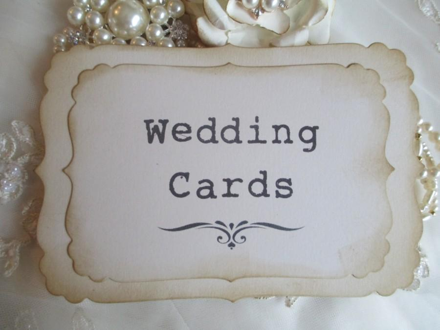 Wedding - Wedding Cards Sign Handmade Vintage Style Venue Decor