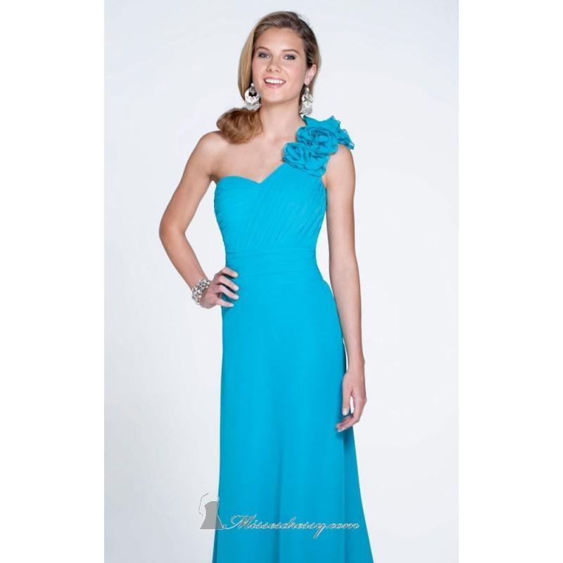 Mariage - Asymmetrical Ruffled Gown by Pretty Maids 22513 - Bonny Evening Dresses Online