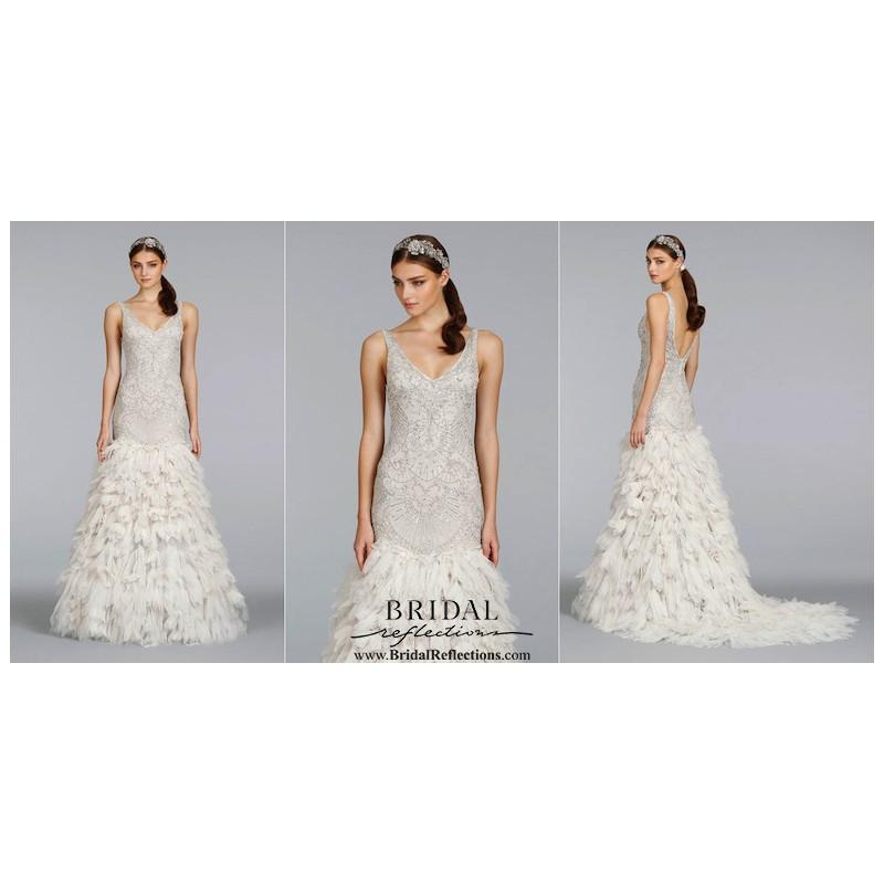 Wedding - Lazaro 3406 - Burgundy Evening Dresses