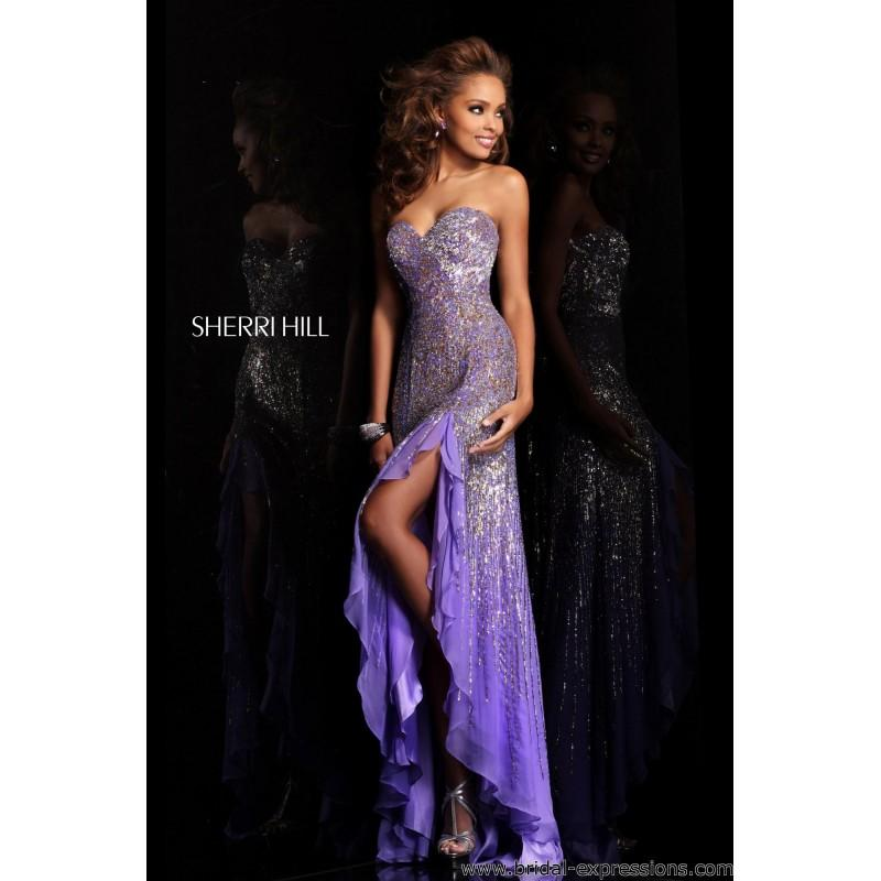 Mariage - Sherri Hill 8510 Sequin High Low Prom Dress - Crazy Sale Bridal Dresses