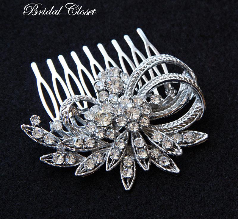 Mariage - Bridal Comb, Rhinestone Comb, Bridal Comb Crystal, Wedding Crystal Hair Comb, Hair Comb, Wedding Accessory, Bridal Headpiece, Bridal Comb