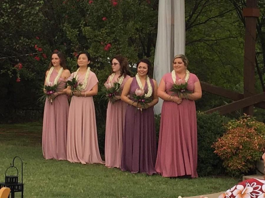 Wedding - Lavender Infinity Dress - floor length   +55colors
