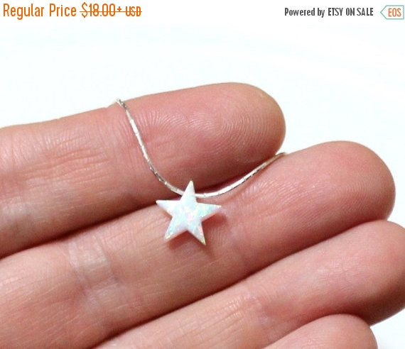 Spring sale opal star necklace opal necklace opal silver spring sale opal star necklace opal necklace opal silver necklace opal jewelry white opal necklace blue star opal necklace simple neck aloadofball Gallery