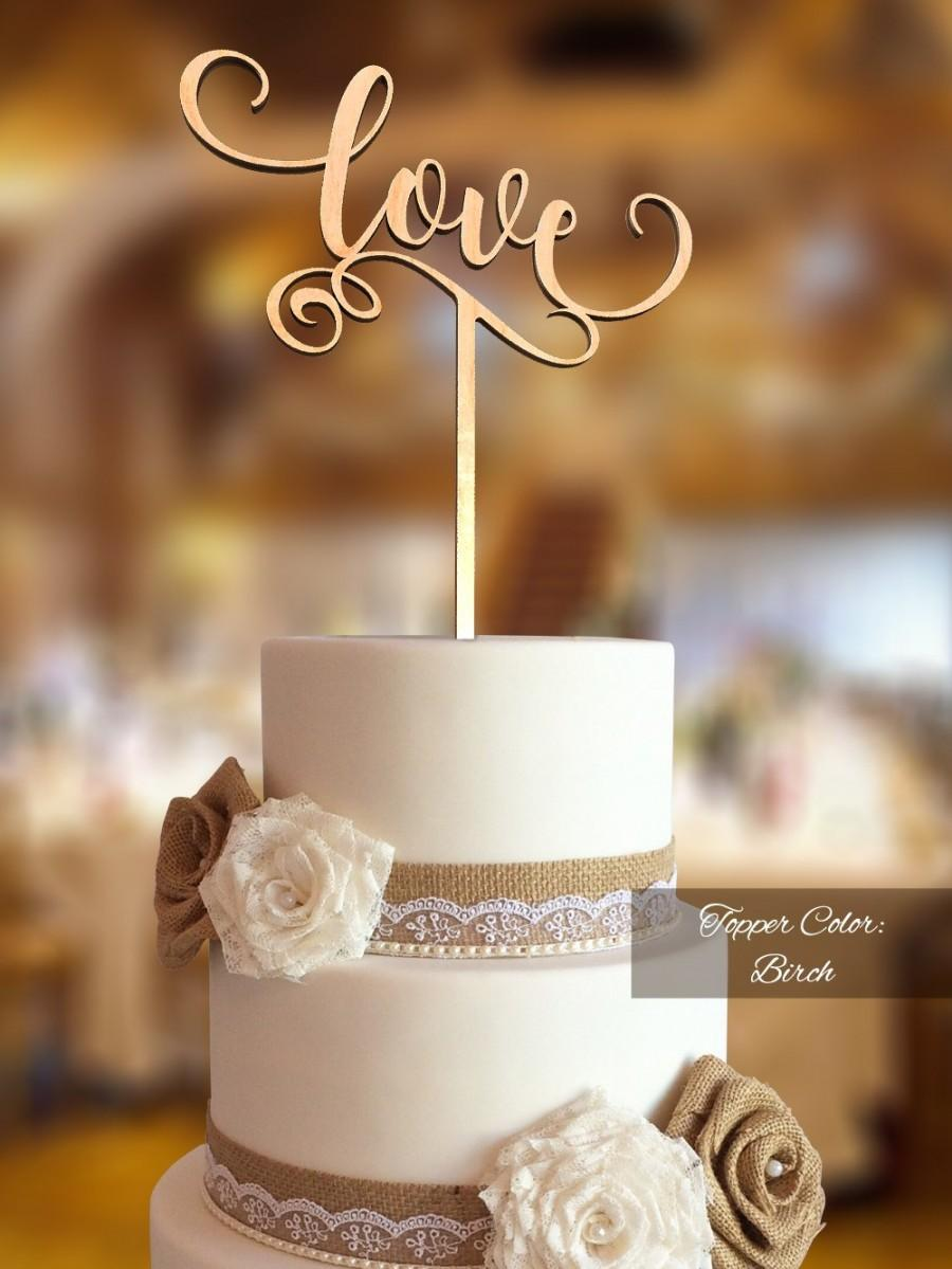 Mariage - Love Cake Topper. Wedding Cake Topper. FNLV02. Rustic Cake Topper. Cake topper wedding. Love cake topper for wedding. Rustic topper.