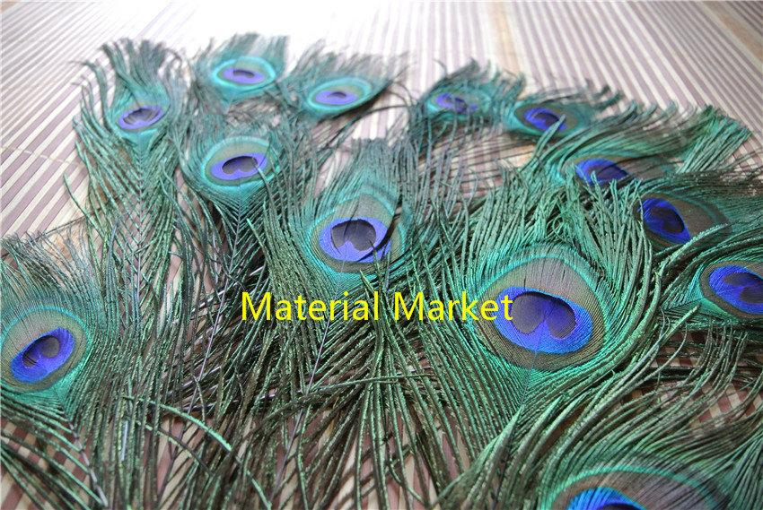 Wedding - 200pcs/lot 10-12inch perfect natural Peacock Feathers peacock eye feathers peacock tail feather