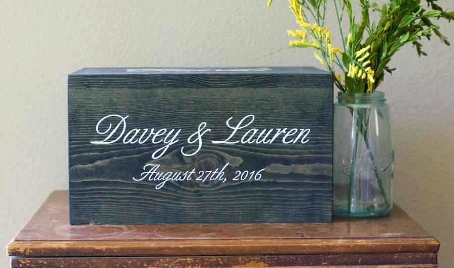 Mariage - Luxury Wedding card box, wedding card box, card box, rustic wedding, wedding box, wedding card holder, wedding cards