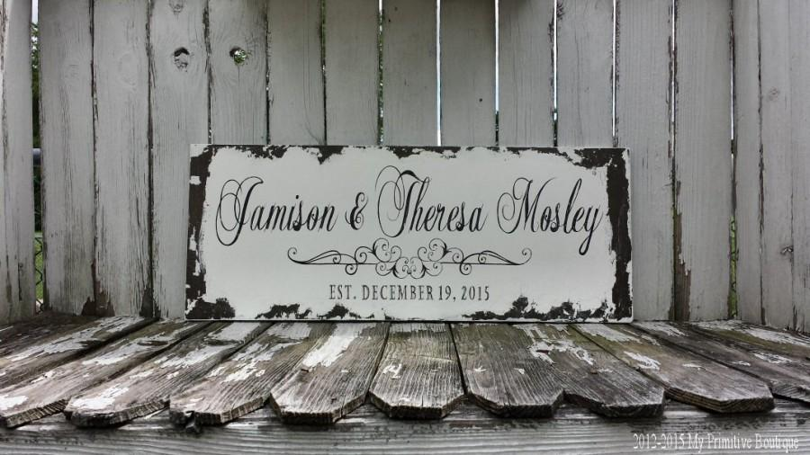 Mariage - Custom Name Sign
