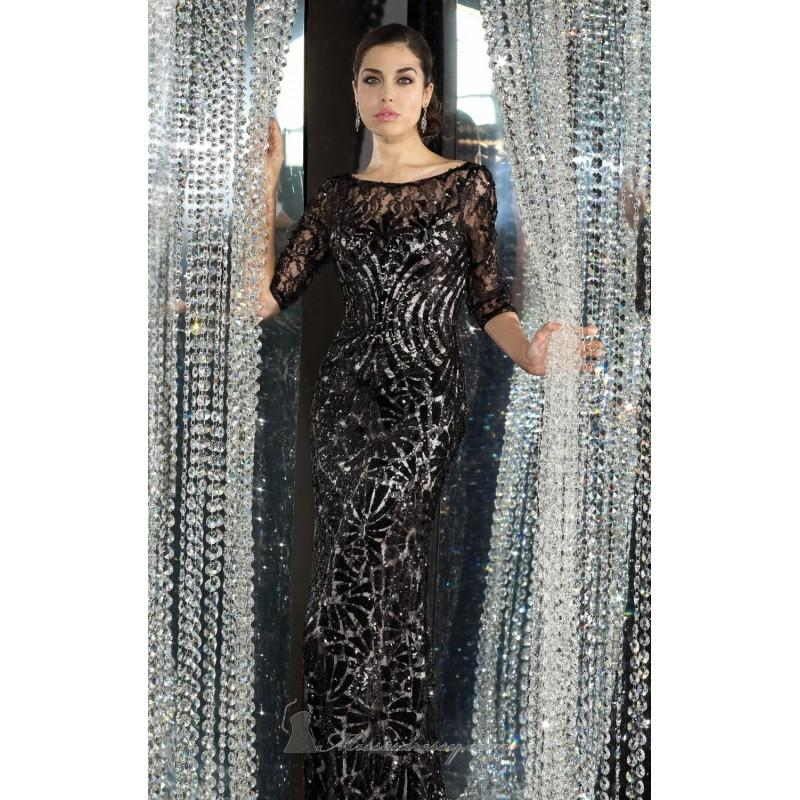 Wedding - Black/Nude Laced Long Gown by Alyce Black Label - Color Your Classy Wardrobe