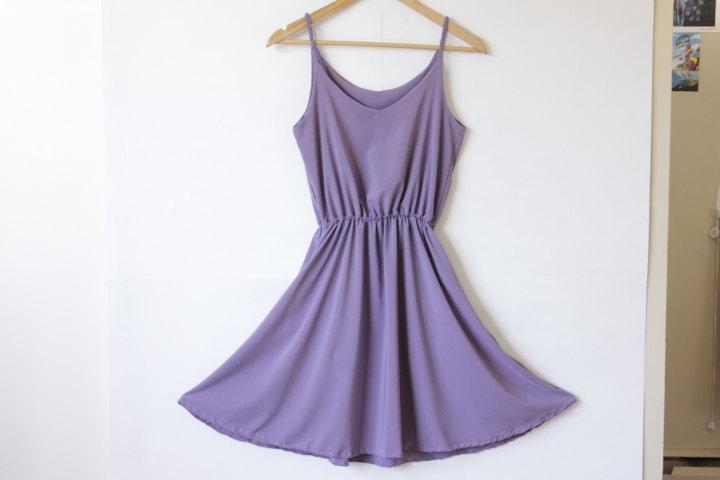 Wedding - Purple Bridemaids Dress: Lavender Dress, Purple Boho Dress, Lavender Maxi Dress, Festival Dress, Dress with Pockets, V Neck Dress Maxi Skirt