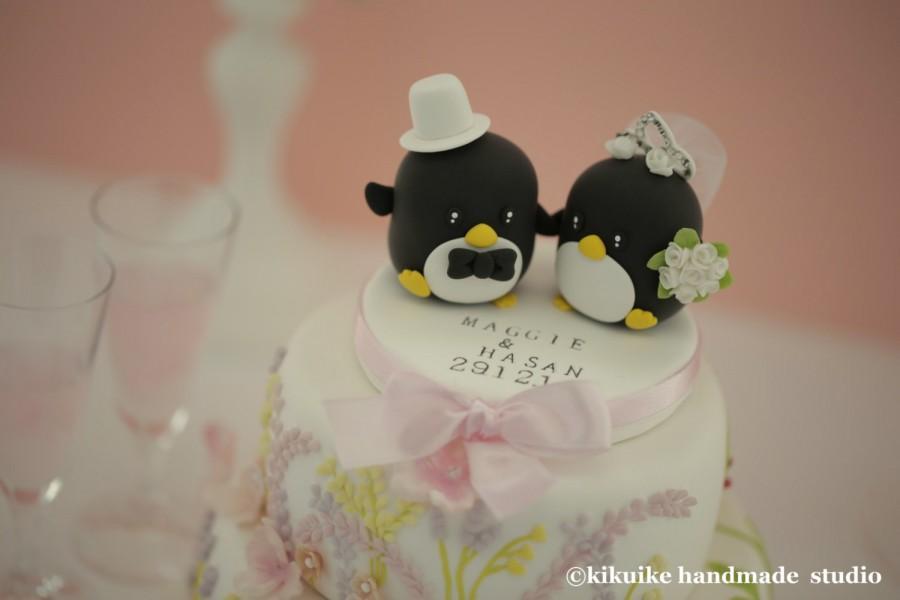 Mariage - Penguins Wedding Cake Topper (K407)