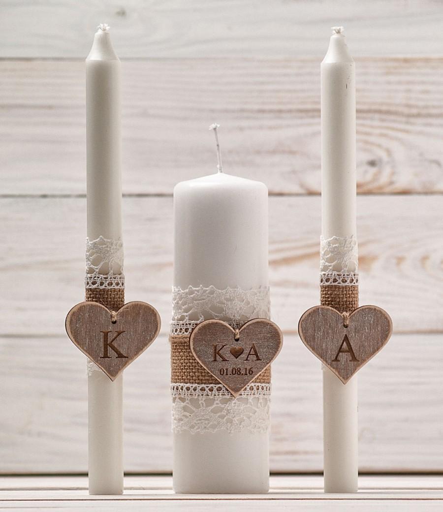 Rustic Unity Candle Set Personalized Wedding Candles Rustic Unity Candle Set Wedding Unity Candle Wedding Unity Twine Wedding Candles