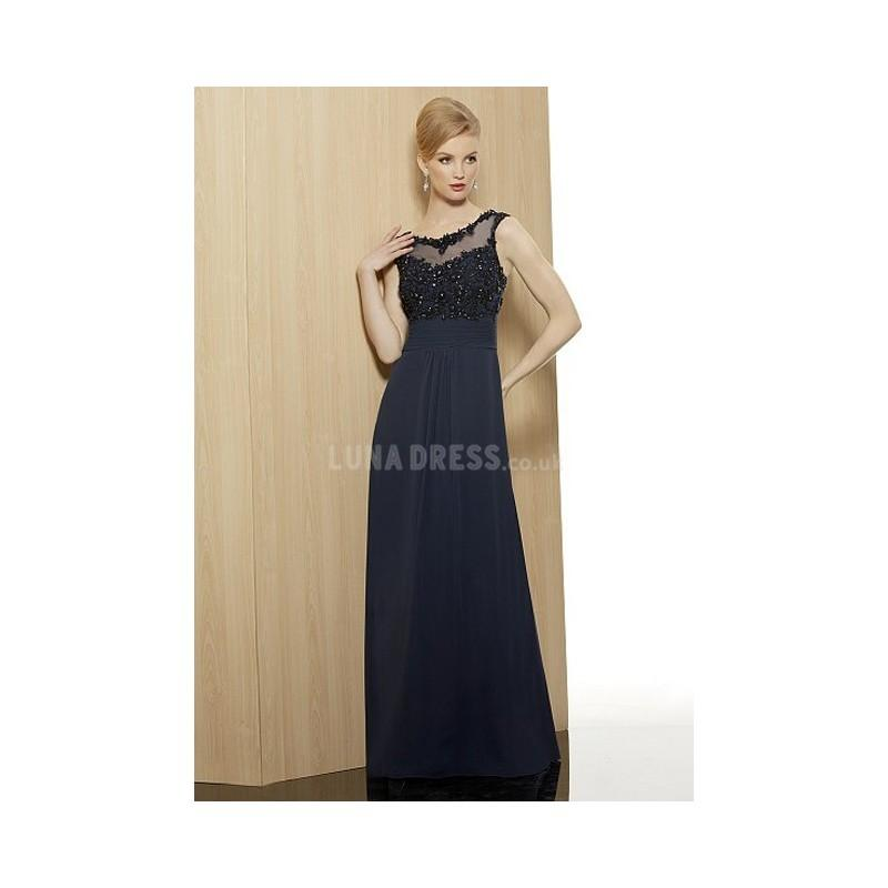 Свадьба - Unique Blue A line Bateau Neckline With Beading Mother of the Groom Dress - Compelling Wedding Dresses