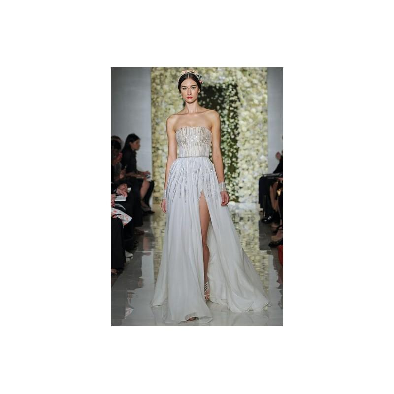 Mariage - Reem Acra Fall 2015 Dress 6 - A-Line Strapless White Full Length Fall 2015 Reem Acra - Nonmiss One Wedding Store