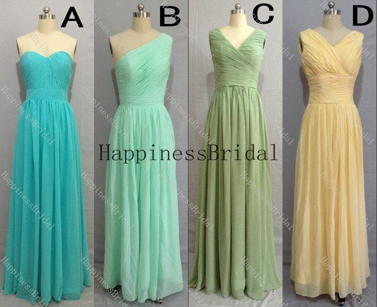 Boda - Chiffon bridesmaid dress .fashion prom dress,evening dress,simple bridesmaid dress,chiffon prom dress,formal evening dress,prom dresses 2014