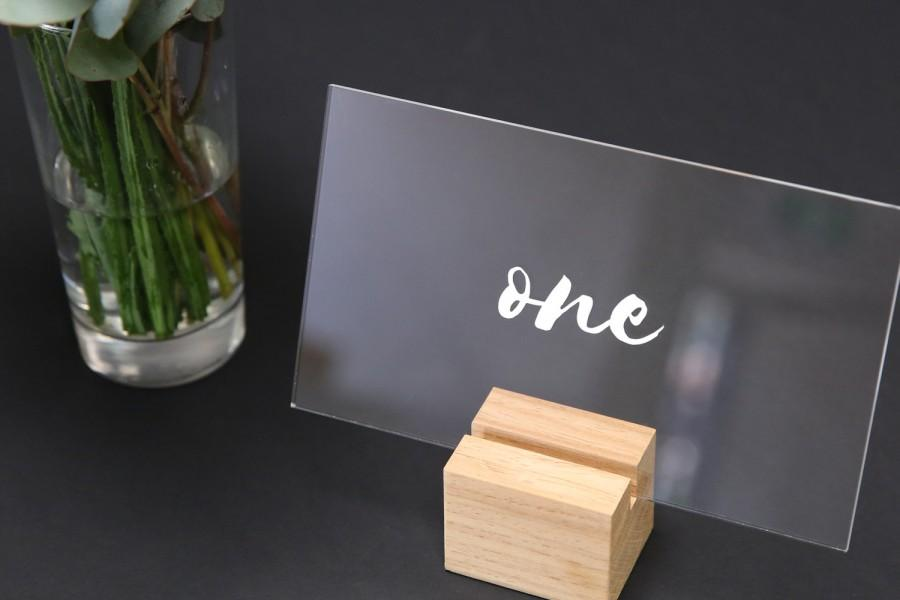 Wedding - Modern Acrylic Table Numbers