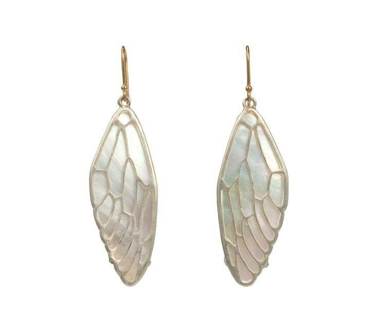 Hochzeit - Cicada Wing Earrings