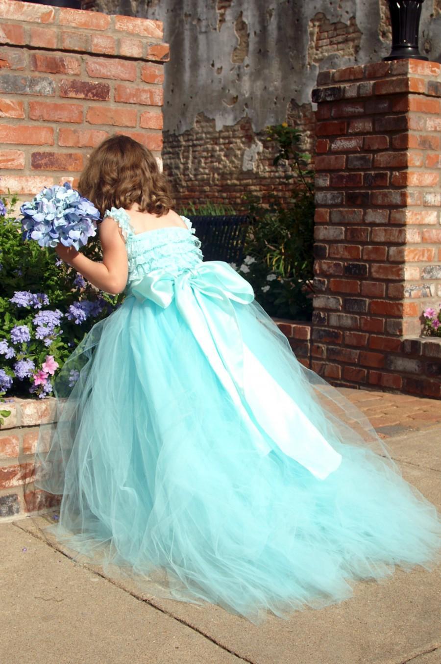 Handcrafted Bridal Length Tulle Tutu Skirt For Flowergirl Or ...
