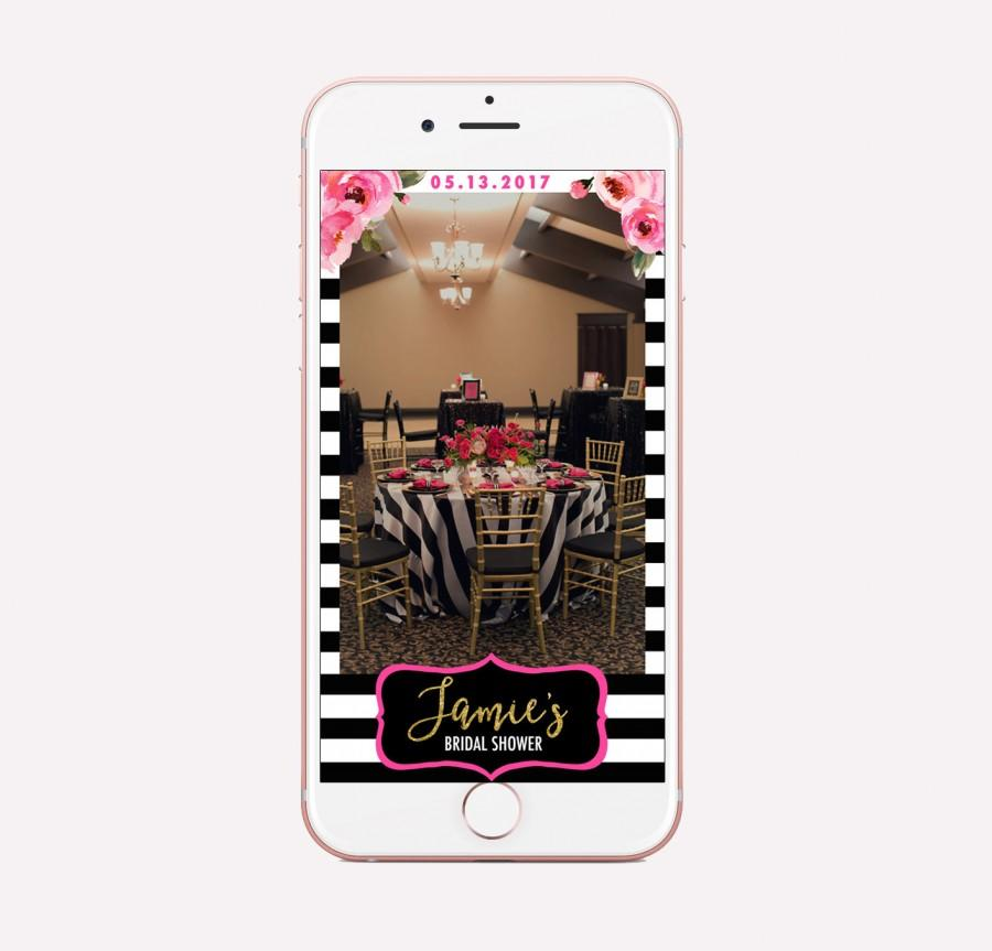 Mariage - Kate Bridal Shower Geofilter, Snapchat Baby Shower filter, Stripes Geofilter, Custom Bridal Shower Geofilter, Spade Inspired, Birthday Decor
