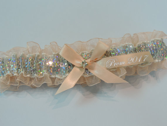 Wedding - Nude Sequin Prom Garter, Custom Colors Prom Garter, Prom Garter, Wedding  Garters, Prom Garters, Bridal Garters