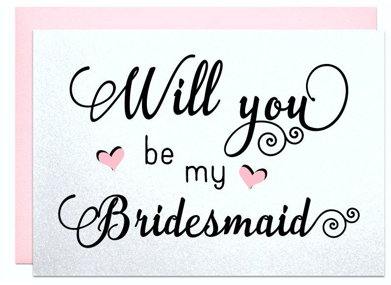Mariage - Will you be my bridesmaid wedding card for bridal shower announcement maid of honor flower girl wedding invitation bridesmaid cards