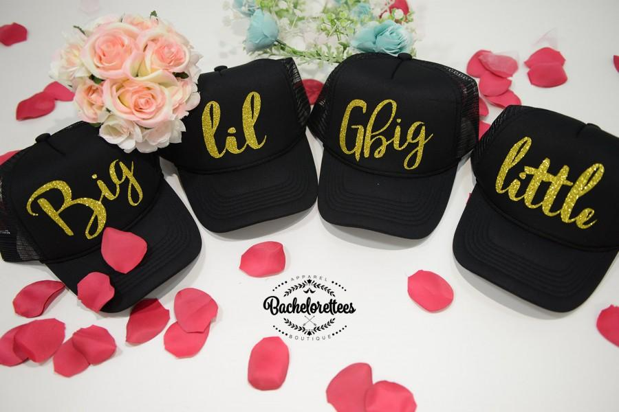 Hochzeit - Little Big GBig GGBig Sorority hats, sorority hats, Little Big, Greek hats, Little sister, Big Sister, Big and Little hats, Reveal hats