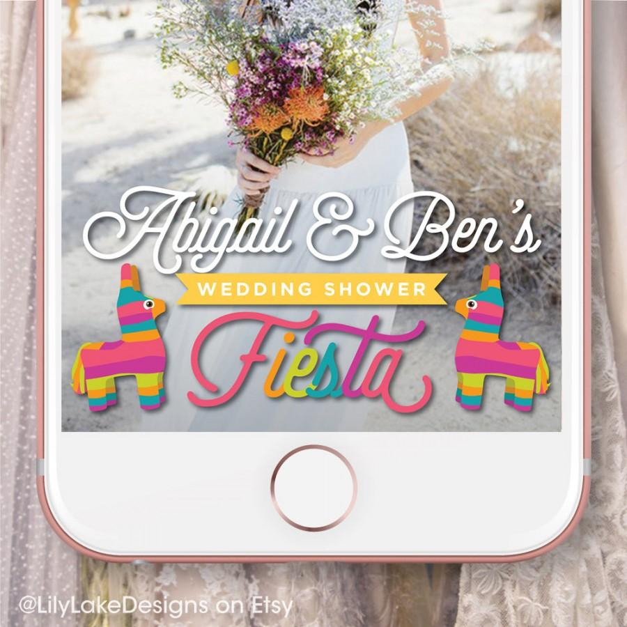 Hochzeit - Personalized Fiesta Wedding Shower Snapchat Geofilter
