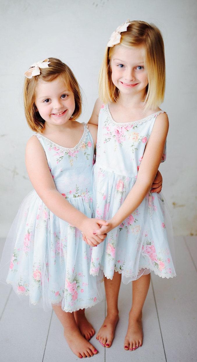 زفاف - Ships Free! Fairy Birthday Dress, Garden Dress, Flower Girl Dress, Flower Girl Lace, Easter Dress, Rustic Flower Girl, Vintage Flower Girl