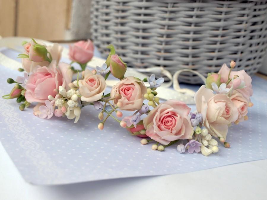 Свадьба - Flower Crown, Floral Headband ,bridal  headband, lillac, wedding crown,Bridal flower ,flower crown, Bridal flower,crown, wedding flower