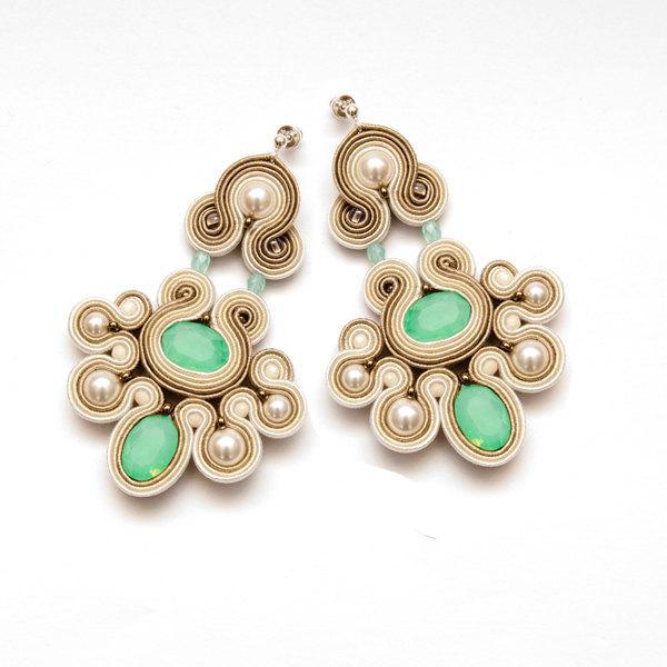 Mint earrings crystal mint chandelier earrings mint statement mint earrings crystal mint chandelier earrings mint statement earrings pearl chandelier soutache earrings mozeypictures Image collections