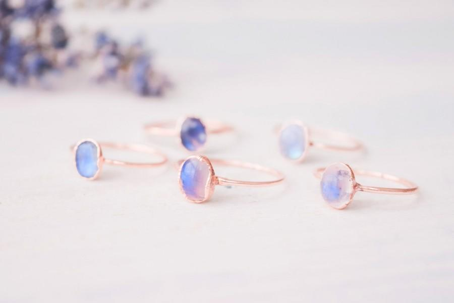 Wedding - Rainbow Moonstone ring - Moonstone ring - Moonstone cabochon ring - Gemstone ring - Birthstone ring - Organic stone ring - Boho ring