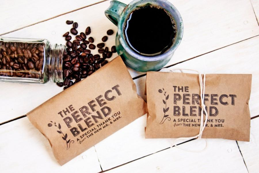Wedding - Wedding Favor Coffee Bag - The Perfect Blend - Budget Favor Bag - Coffee Favors  - 20 Bags